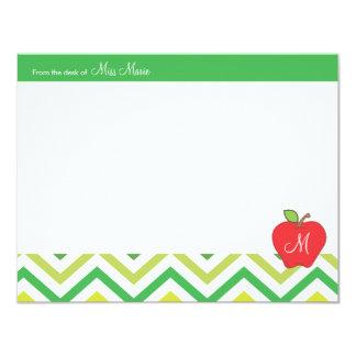 Tarjeta de nota plana de los profesores de Apple Invitación 10,8 X 13,9 Cm