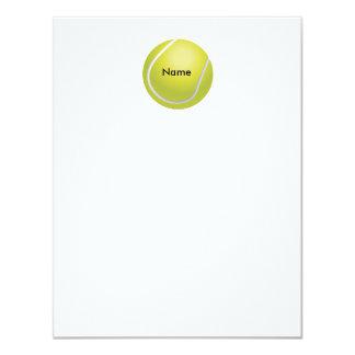 """Tarjeta de nota plana personalizada de la pelota invitación 4.25"""" x 5.5"""""""