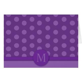 Tarjeta de nota púrpura moderna del punto (la pedi
