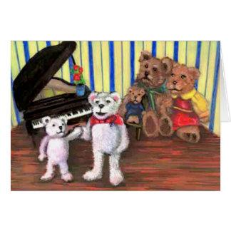 Tarjeta de nota, recepción al club del piano
