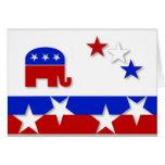 Tarjeta de nota republicana
