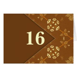 tarjeta de nota retra elegante del estilo del núme