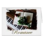 Tarjeta de nota romántica elegante