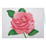 Tarjeta de nota rosada de la pasión
