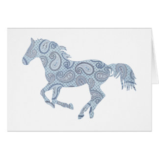 Tarjeta de nota rosada del caballo de Paisley