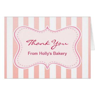 tarjeta de nota rosada del café de la panadería