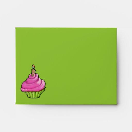 Tarjeta de nota rosada y verde del verde de la mag