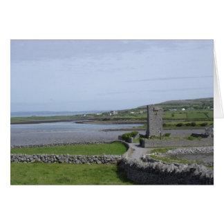 Tarjeta de nota rural de Irlanda
