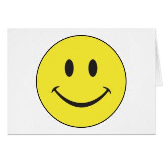 Tarjeta de nota sonriente de la cara