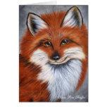 Tarjeta de nota sonriente del Fox