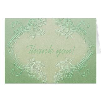 Tarjeta de nota verde adornada