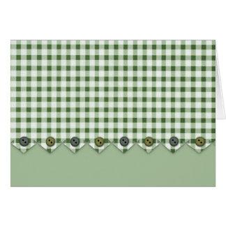 Tarjeta de nota verde de la guinga y de los