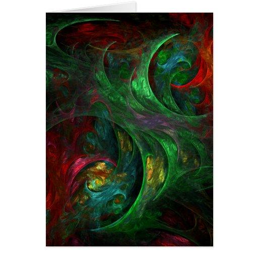 Tarjeta de nota verde verde del arte abstracto de