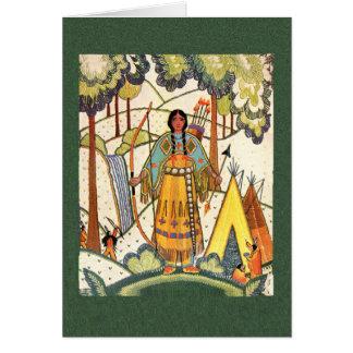 Tarjeta de nota virginal del nativo americano
