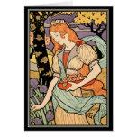 Tarjeta de Nouveau del arte de Grasset:  Iris y