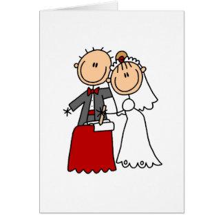 Tarjeta de novia y del novio