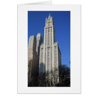 Tarjeta de NYC - edificio de Woolworth