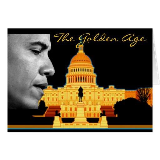 Tarjeta de Obama de la época dorada