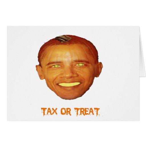 Tarjeta de Obama Halloween