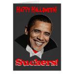 Tarjeta de Obama Halloween de los lechones del fel