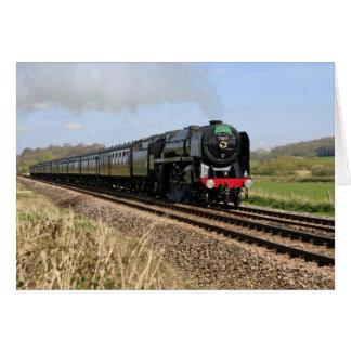 """Tarjeta de """"Oliver Cromwell"""" del tren del vapor"""