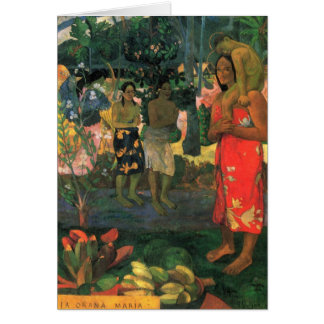 """Tarjeta de Orana Maria"" - Paul Gauguin del La Tarjeta Pequeña"