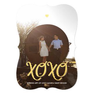 """Tarjeta de oro de la foto del el día de San Invitación 5"""" X 7"""""""