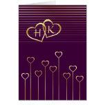 Tarjeta de oro de la tarjeta del día de San Valent