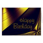 Tarjeta de oro del feliz cumpleaños