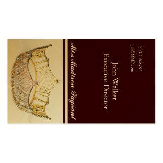 Tarjeta de oro del negocio o de visita de la tarjetas de visita