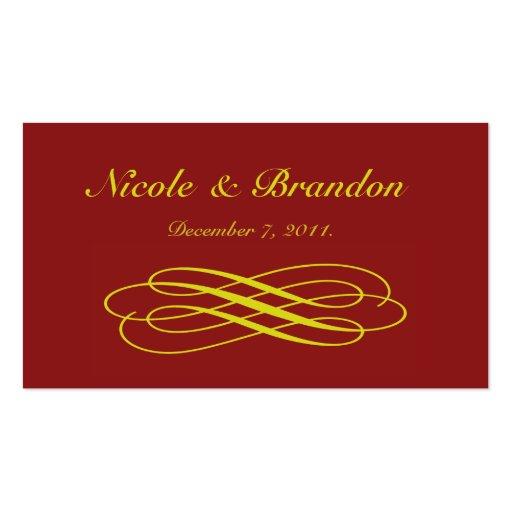 Tarjeta de oro del Web site del boda del cuento de Plantilla De Tarjeta De Visita