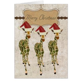 Tarjeta de oro festiva de las Felices Navidad de l