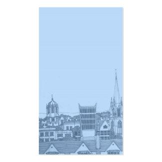 tarjeta de Oxford en azules cielos Tarjetas De Visita
