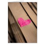 Tarjeta de papel de la fotografía del corazón
