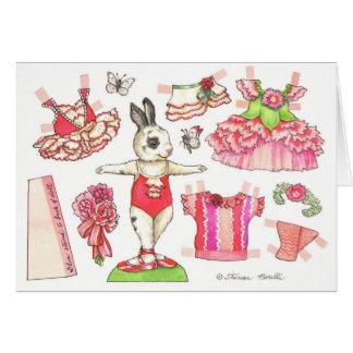 Tarjeta de papel de la muñeca de la tarjeta del dí
