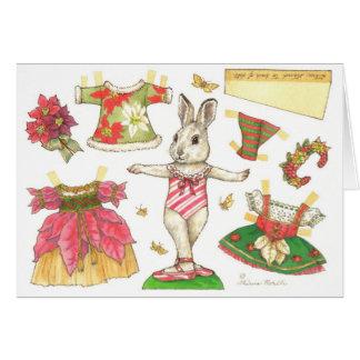 Tarjeta de papel de la muñeca del navidad del cone