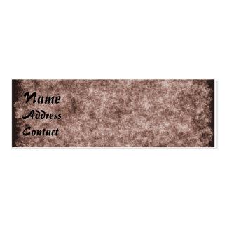 Tarjeta de papel del perfil del Grunge Tarjetas De Visita Mini