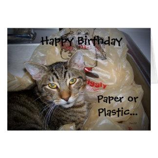 Tarjeta de papel o plástica