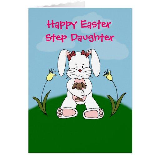 tarjeta de pascua blanca de la hija del paso del c