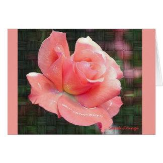 Tarjeta de pascua color de rosa