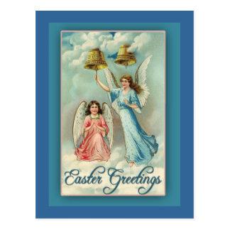 Tarjeta de pascua con el ejemplo del vintage tarjetas postales