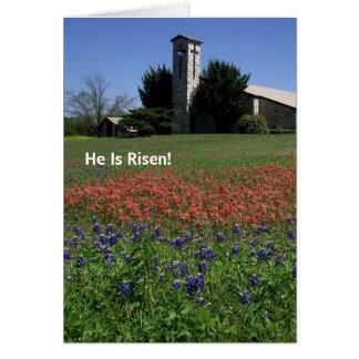 Tarjeta de pascua con el mensaje del evangelio den
