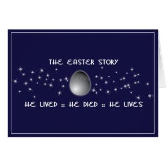 Tarjeta de pascua cristiana de la historia de Pasc