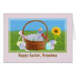 Tarjeta de pascua de la abuela con Ibis y la cesta