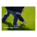 Tarjeta de pascua de la caza del huevo de Pascua