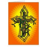 Tarjeta de pascua de la cruz y de la vid