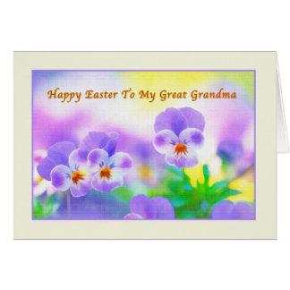 Tarjeta de pascua de la gran abuela con los pensam