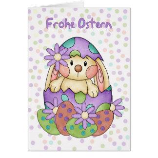 Tarjeta de pascua de la lengua alemana - Frohe Ost