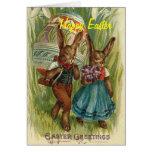Tarjeta de pascua de los amigos del conejo