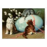 Tarjeta de pascua de los gatitos de Pascua del Vic